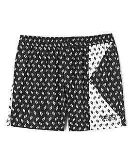 Kenzo Men's Ikat Print Swim Trunks