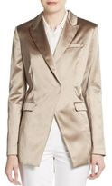 Brunello Cucinelli Double-Breasted Satin Jacket
