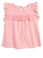Splendid Infant Girl's Eyelet Ruffle Top