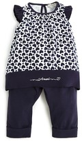 Armani Junior Armani Infant Girls' Heart Print Top & Pants Set - Sizes 9-24 Months