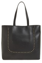 Sole Society Adelaine Studded Faux Leather Tote - Black