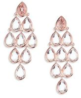 Ippolita Rose Rock Candy Clear Quartz Teardrop Chandelier Earrings