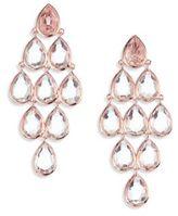 Ippolita Rose Rock Candy Clear Quartz Teardrop Chandelier Earrings