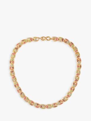 Susan Caplan Vintage D'Orlan 22ct Gold Plated Swarovski Crystals Collar Necklace, Gold/Multi