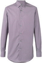 Ermenegildo Zegna hexagon print long sleeve shirt