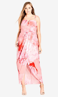 City Chic Girly Rose Maxi Dress