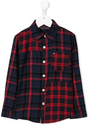 Tommy Hilfiger Junior plaid long-sleeve shirt