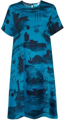 Klements Freida Dress In Doomed Voyage Print