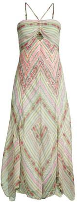 Ramy Brook Luella Printed Halter Cutout Dress