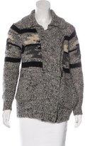 Etoile Isabel Marant Wool & Alpaca-Blend Patterned Cardigan