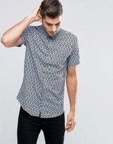 Jack and Jones Diamond Print Short Sleeve Shirt