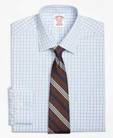 Brooks Brothers Non-Iron Madison Fit Split Check Dress Shirt