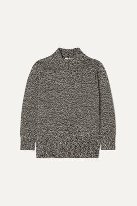 The Row Edmund Melange Cashmere Sweater - Gray