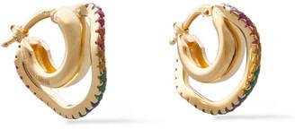 Cornelia Webb 24-karat Gold-plated Siamite Hoop Earrings