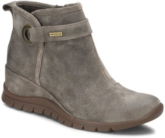 bionica All-Weather Suede Wedge Ankle Boots - Ocala