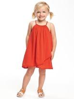 Old Navy Tulip-Hem Crinkle-Gauze Swing Dress for Toddler