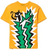 Fendi Orange Cat and Cactus Print Tee