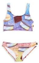 Zara Terez Girl's Ice Cream-Print Bikini