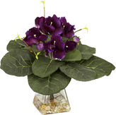 Asstd National Brand Nearly Natural Gloxinia With Vase Silk Plant