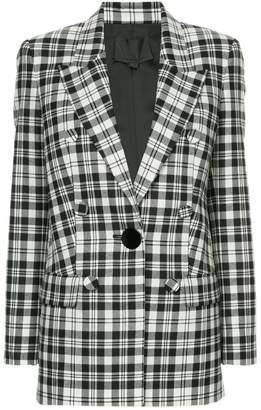 Alexander Wang single breasted plaid blazer