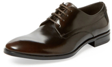 a. testoni Shell Calf Plain Toe Derby Shoe