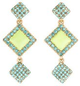 Oscar de la Renta Geometric Crystal & Resin Drop Earrings