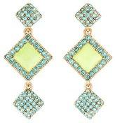Oscar de la Renta Geometric Crystal & Resin Drop Earrings