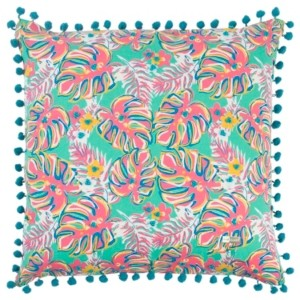 """Rizzy Home Simply Southern 18"""" x 18"""" Floral Pillow"""