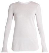 Vince Cotton and cashmere-blend long sleeved T-shirt