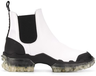 Moncler Leather Ankle Boots