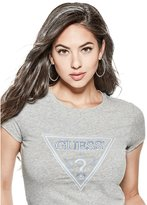 GUESS Women's Glow In The Dark Logo Tee