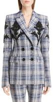Alexander McQueen Women's Embellished Celtic Check Jacket