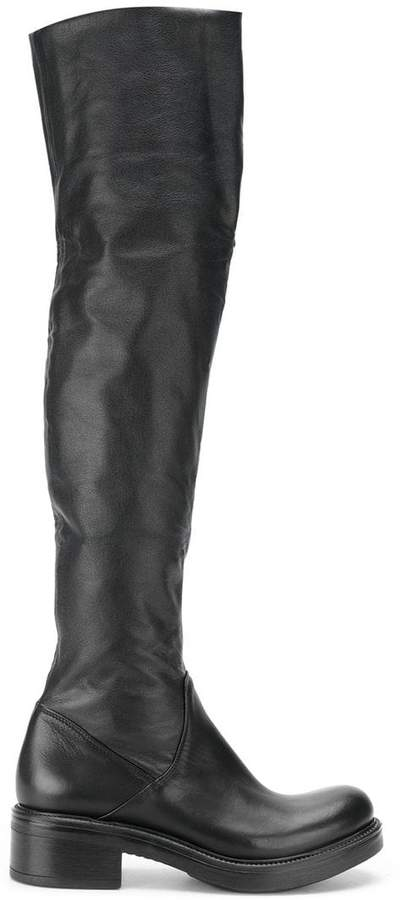 Strategia chunky thigh-high boots