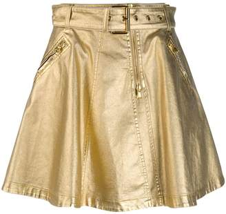 Moschino A-line belted skirt