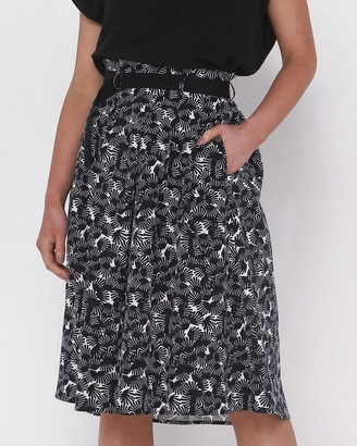 Privilege Women's Black Midi Skirts - D-Ring Midi Skirt - Size One Size, 14 at The Iconic