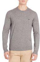Lacoste Jaspe Melange Crewneck Sweater