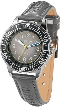 Freegun ee5183Boys 'WatchAnalogue QuartzGrey DialGrey Leather Strap
