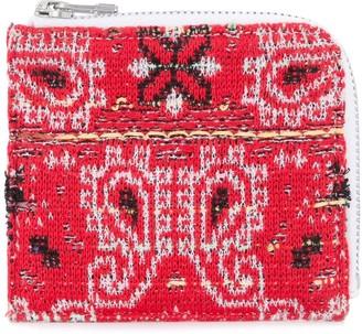 Coohem knit tweed bandana wallet