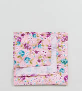 Reclaimed Vintage Inspired Pocket Square In Pink Floral Print