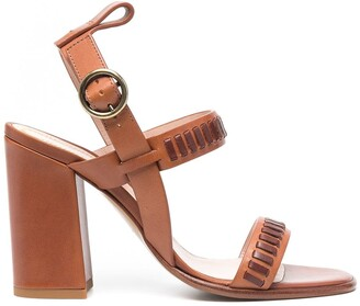 Etro Woven Leather Heeled Sandals