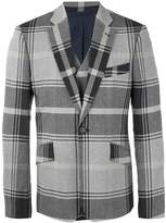 Vivienne Westwood notched lapel plaid blazer
