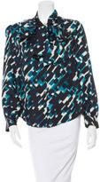 Thakoon Long Sleeve Silk Top