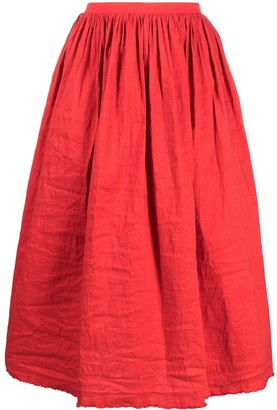 UMA WANG Gathered Detail Full Shape Skirt