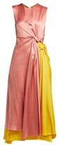 Roksanda Nyimi Knotted Silk-satin Midi Dress - Womens - Multi