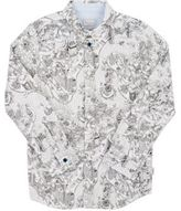 Paul Smith Men's NYC Cartoon-Print Cotton Shirt