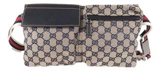 Gucci Navy Cloth Bags