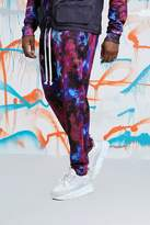 Big & Tall Quavo Tie Dye Skinny Jogger With Print