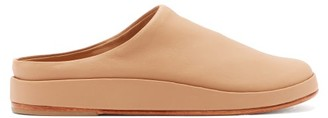 LAUREN MANOOGIAN Contour Backless Leather Flats - Womens - Nude