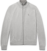 Polo Ralph Lauren Mélange Cotton Zip-Up Sweater