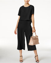 Alfani Cropped Popover Jumpsuit, Only at Macy's